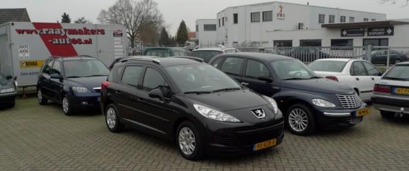 5-tal nieuwe voorraad auto´s, ingeruild en ingekocht: Peugeot 207, Mazda 2, Honda Civic, Peugeot 207 SW, Chrysler PT Cruiser